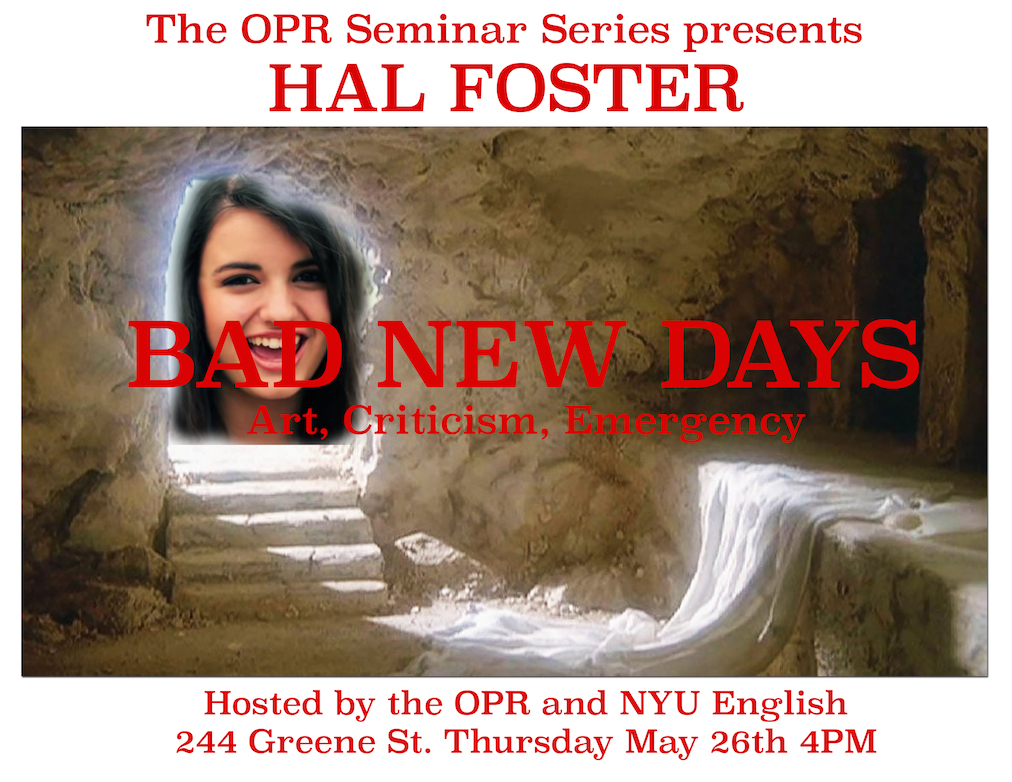 OPR hal foster event small